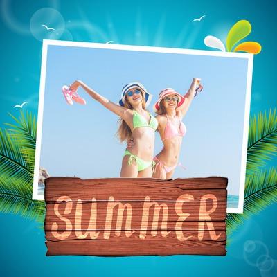 夏季的热带度假