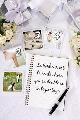 fotos de la boda con el texto