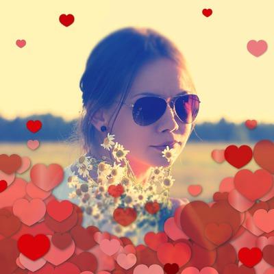 Del amor ! corazones rojos