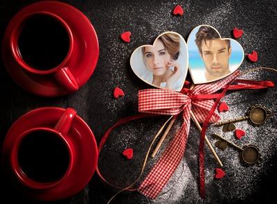Kaffekopper med hjerter