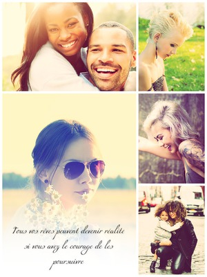 Collage 5 fotos y texto