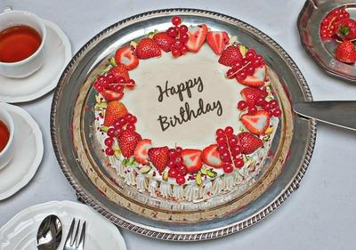 Texto en la torta de cumpleaños
