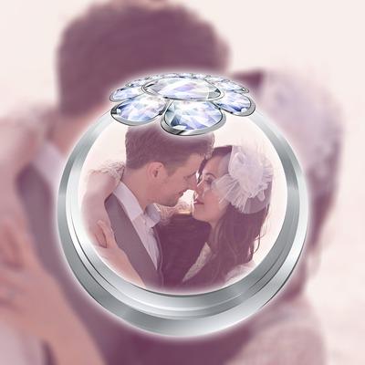 Bague sur flou Fiançailles Mariage