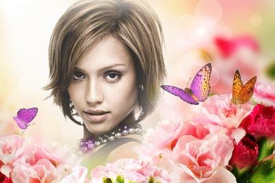 Flores Mariposas Rosas