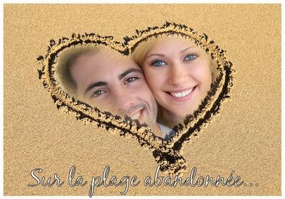 Corazón en la arena ♥