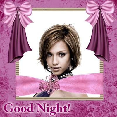 Good night Buenas noches Nudos satén rosa