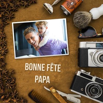 Ημέρα του Πατέρα, μπαμπά καλή κόμμα, προσαρμόσιμη κείμενο και φωτογραφία