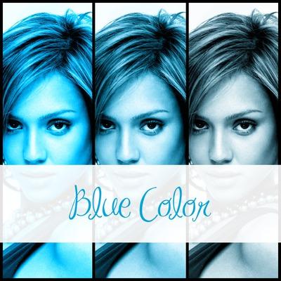 Colaje 3 fotografias azules + texto