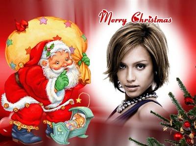 Coniglio di Babbo Natale Merry Christmas