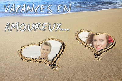 Coeurs sur la plage ♥ 2 photos