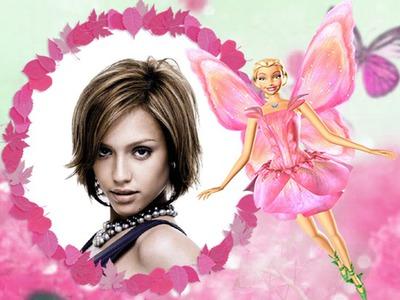 Barbie pink fairy bambino cornice