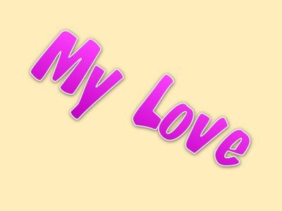 Texto My Love