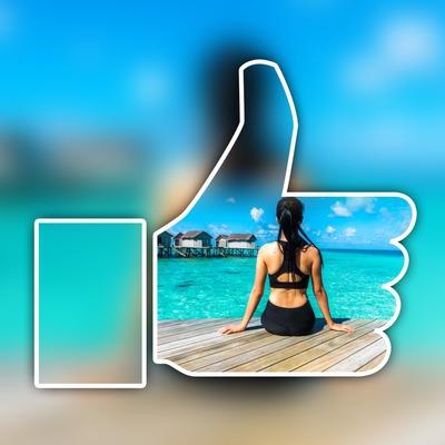 Poput Facebooka na zamagljena pozadina