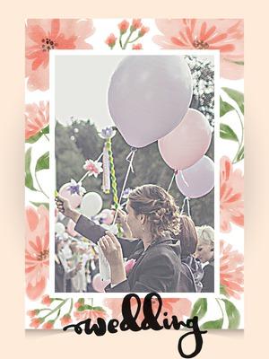 Bryllup invitasjon floral