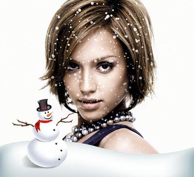 Vista a su imagen con nieve