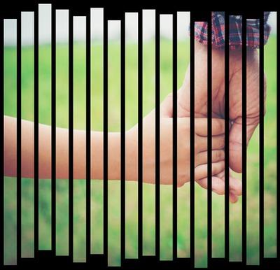 Las líneas verticales efecto artístico