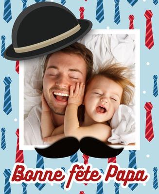 礼帽和胡子父亲节