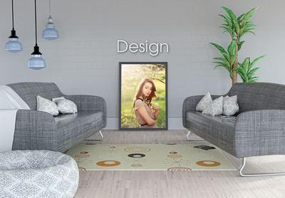 modern interieur frame op Photo