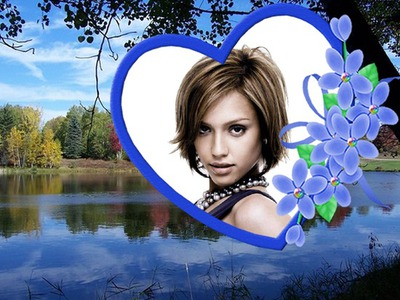 Corazón ♥ Paisaje Lago