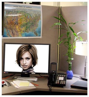 Desk Computer screen Scene