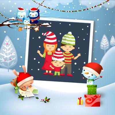 Marco de la Navidad con los animales