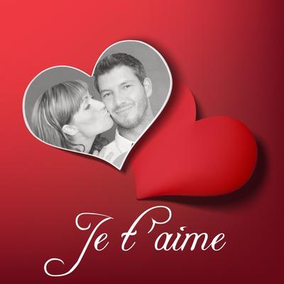 2 corações e texto Valentine personalizado