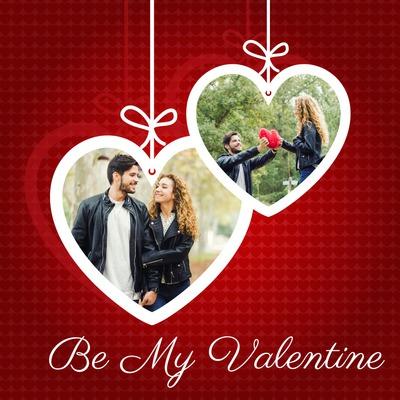 Dvi širdys Valentino diena