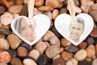 Coeurs sur les galets ♥ 2 photos