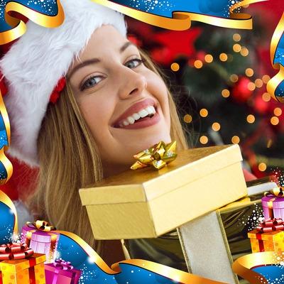 Natale cornice per la vigilia di Natale