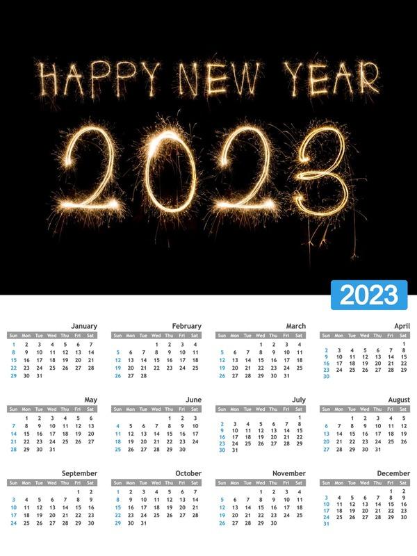 Photo montage Annual calendar with customizable photo   Pixiz