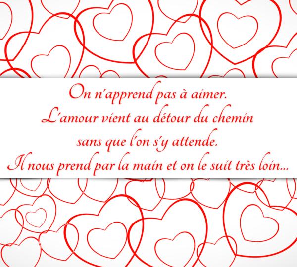 Montage Photo Carte De Saint Valentin Message D Amour Pixiz