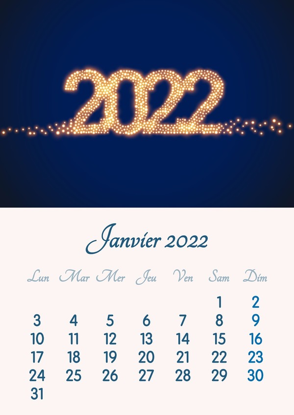 Photo montage Monthly calendar with year, month and personal