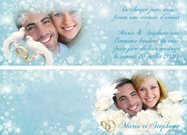 Invitation Announcement Birth Wedding - Photo montage on Pixiz