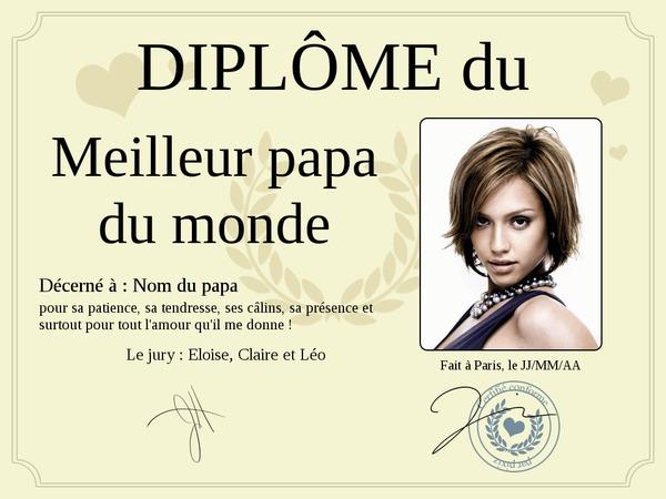 Fotomontagem diploma pixiz - Diplome du super papa a imprimer gratuit ...