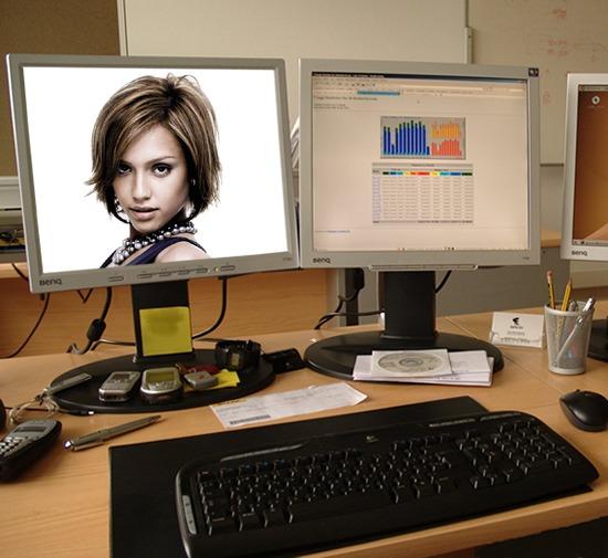 Montage photo sc ne bureau ecran d 39 ordinateur pixiz for Ordinateur pour montage photo