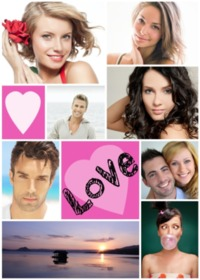 Collage Love 8 Photos Pell-Mell