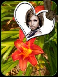 Coeur     Fleur De Lys   Cadre N  1158