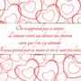 Valentine's Day card Love message