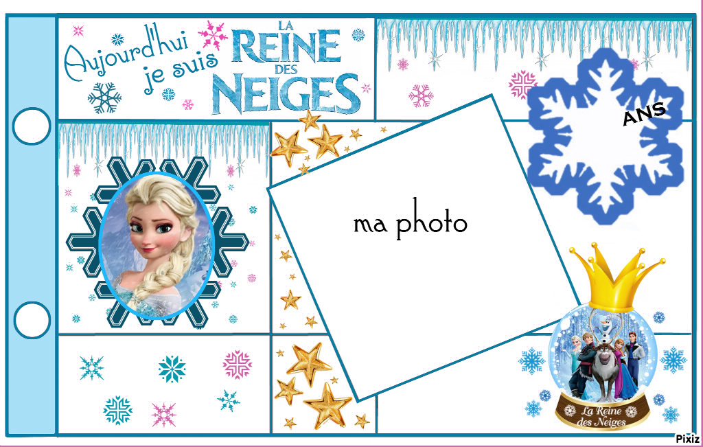 carte d anniversaire la reine des neiges. Black Bedroom Furniture Sets. Home Design Ideas