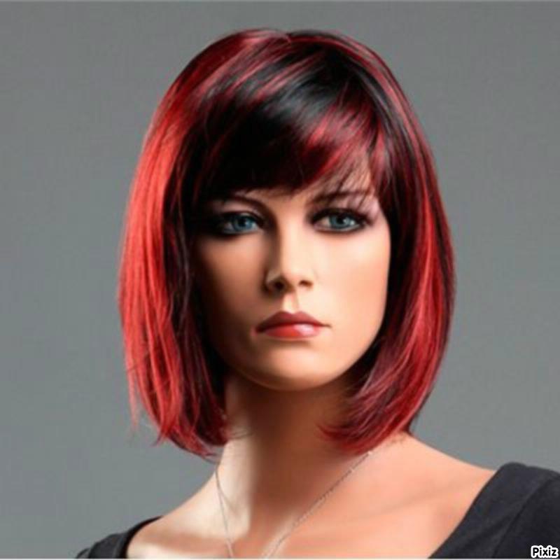montage photo femme cheveux rouge pixiz - Coloration Rouge Sur Cheveux Noir