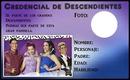 Credencial Descendientes