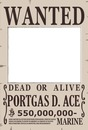 portgas d ace wanted one piece