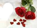 corazon y rosas rojas