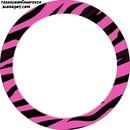 Quadro-Circulo rosa e preto.