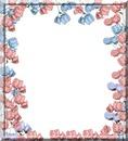 cadre avec des roses bleu et rose 1 photo