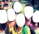 Foto com os amigos