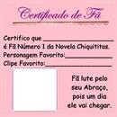 Certificado de fã Chiquititas