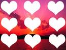 por do sol coração