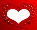 coeur avec des bulles 1 photo cadre