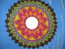 Mandala , cadre rond -une photo